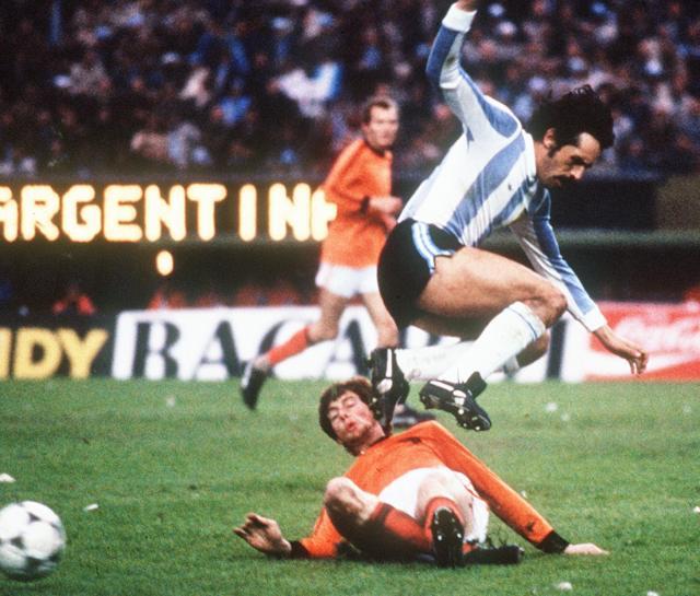 Leopoldo Luque in azione durante la finale dei Mondiali 1978. Staff/AFP/Getty Images