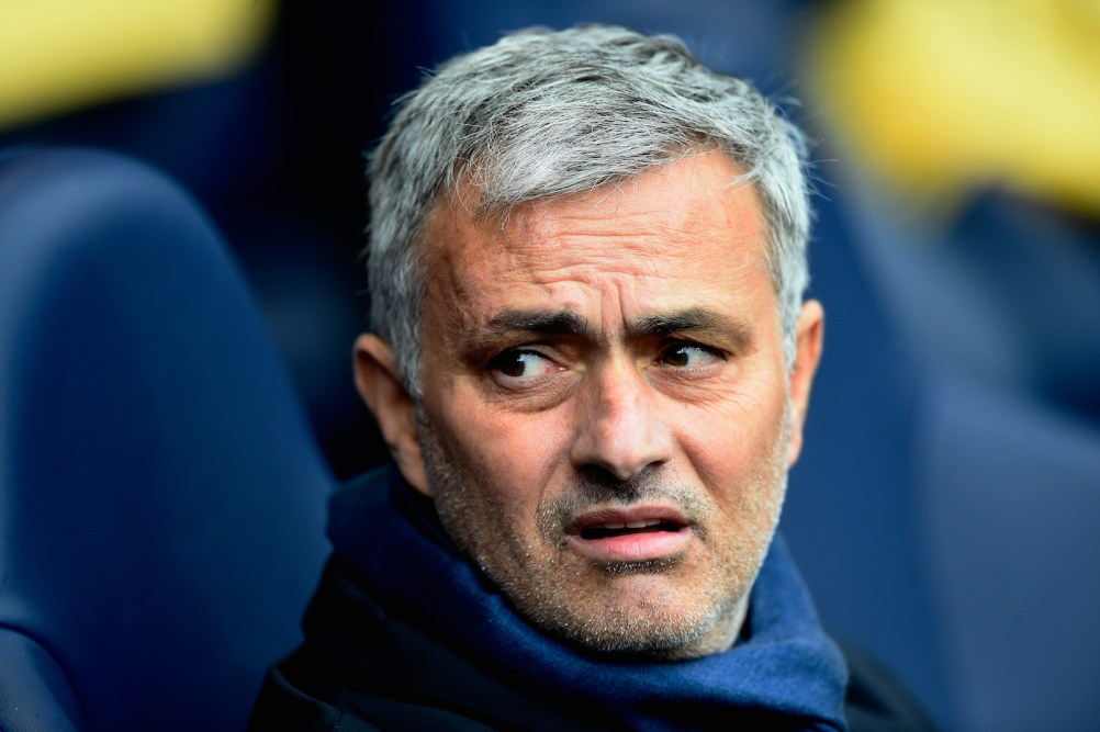 LONDON, ENGLAND - NOVEMBER 29: Jose Mourinho manager of Chelsea looks on prior to the Barclays Premier League match between Tottenham Hotspur and Chelsea at White Hart Lane on November 29, 2015 in London, England. (Photo by Mike Hewitt/Getty Images)