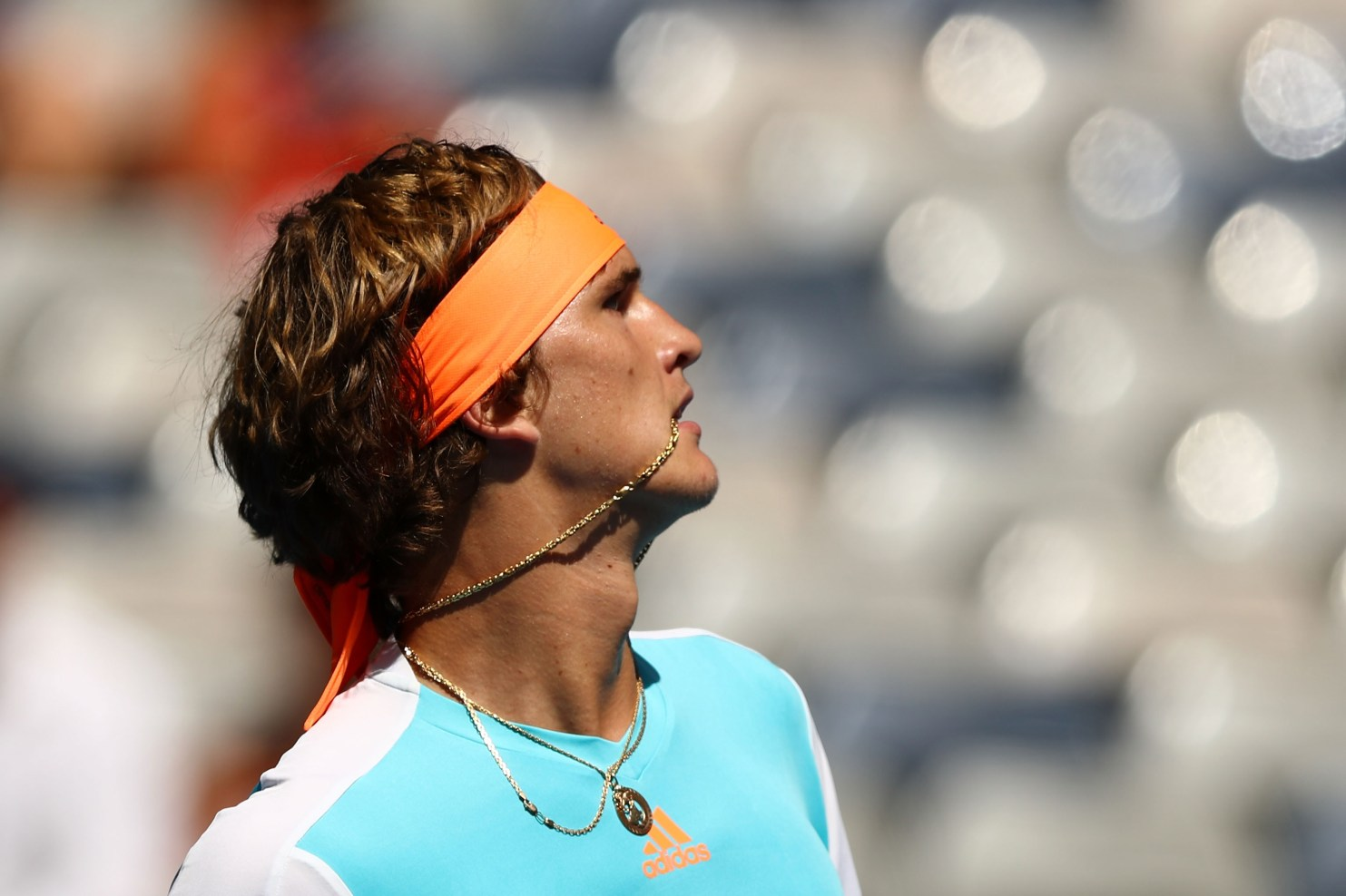 MELBOURNE, AUSTRALIA - JANUARY 17: Alexander Zverev of Germany looks on in his first round match against Robin Haase of the Netherlands on day two of the 2017 Australian Open at Melbourne Park on January 17, 2017 in Melbourne, Australia. (Photo by Ryan Pierse/Getty Images)