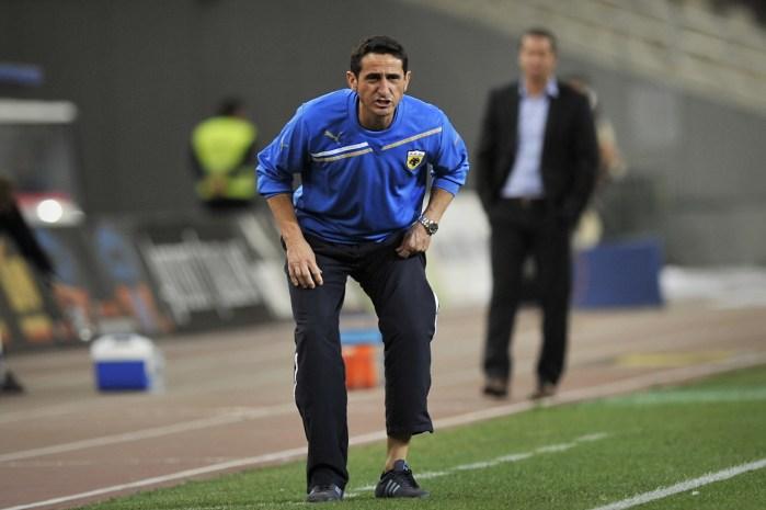 AEK Athens coach Manuel Jimenez Jimenez