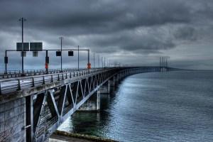 Il ponte di Oresund che collega Svezia e Danimarca