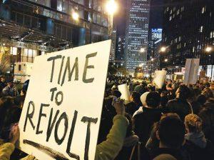 New York, 9 novembre - Primi cortei di protesta contro Trump