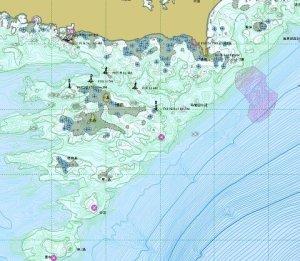 英虞湾海底図