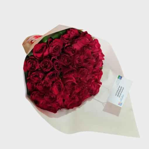 باقة 50 وردة طبيعي