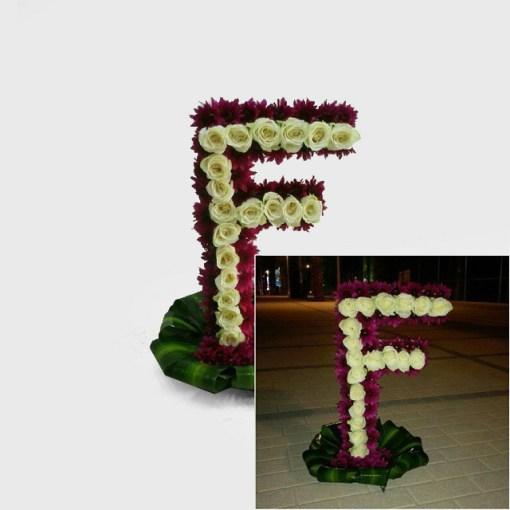 مجسم حرف F