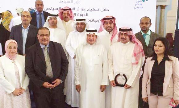 Winners of the Arab tourism Media Awards and the Arab Heritage Man Award in Oman on Friday.
