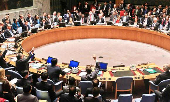 The U.N. Security Council vote on referring the Syrian crisis to the International Criminal Court for investigation of possible war crimes, in this May 22, 2014 file photo. (AP)