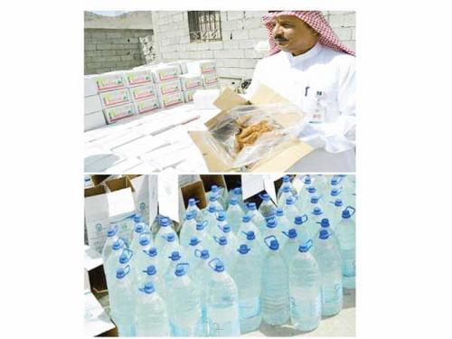 Some 2,000 kilograms of rotten date paste and 1,000 Zamzam bottles stored under direct sunlight were confiscated from a rest house in Makkah.