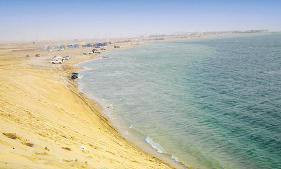 Alkhobar's Half Moon beach is found littered with plastic on most days.