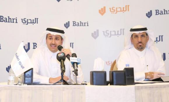 Saleh N. Jasser, left, and Mohammad O. Alotaibi, Bahri's vice CEO for finance.