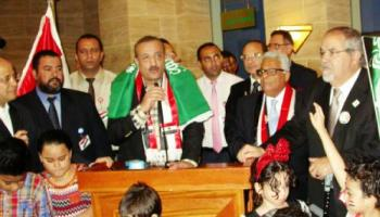 Consul General Adel Al-Alfy addressing Egyptian expatriates in Jeddah during the celebrations