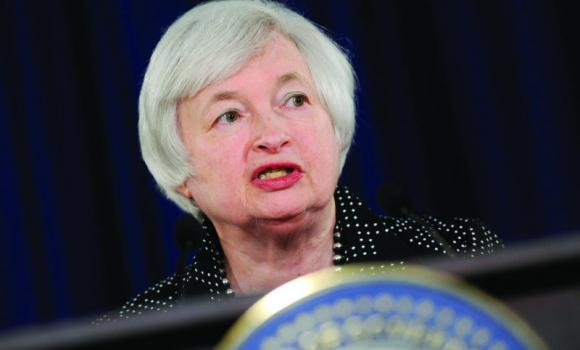 Federal Reserve Chair Janet Yellen speaks during a news conference at the Federal Reserve in Washington.