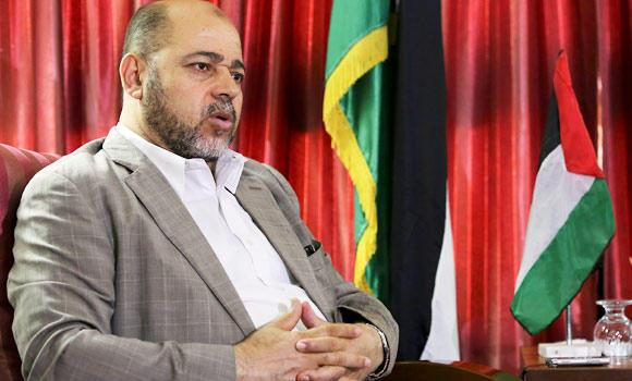 Senior Hamas leader Moussa Abu Marzouk speaks during an interview with The Associated Press in Gaza City, on Tuesday.