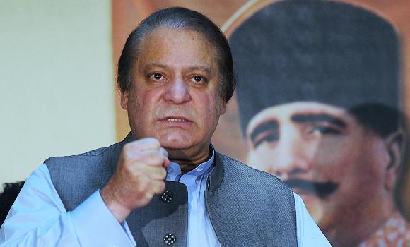 Pakistan Prime Minister Nawaz Sharif.
