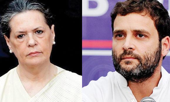 Sonia Ghandi (L) and Rahul Ghandi.