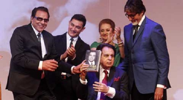 The stage glittered as Hindi cinema icons launched thespian Dilip Kumar's long-awaited autobiography.