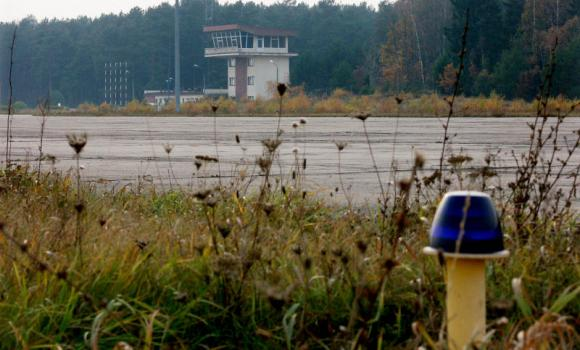 This Nov. 3, 2005 file photo shows the runway and control tower of the airport in Szymany, in northeastern Poland. Europe's top human rights court ruled Thursday that Poland violated the rights of two terror suspects by allowing the CIA to secretly imprison them on Polish soil from 2002-2003 and facilitating the conditions under which they were subject to torture.