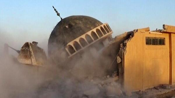 Pictures posted on the Internet by the Islamic State of Iraq and Syria (ISIS) showed Sufi shrines were demolished by bulldozers.
