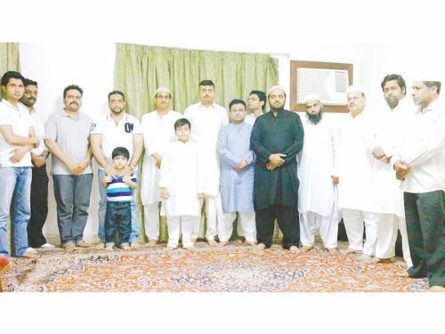 Poets and guests at Majlis-e-Ilm-o-Adab's Iftar gathering.