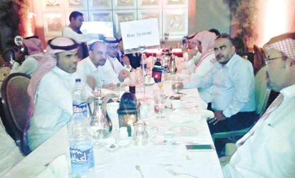 Monther Tayeb, right, having iftar at a local hotel in the Saudi capital recently, said people are generous during Ramadan.