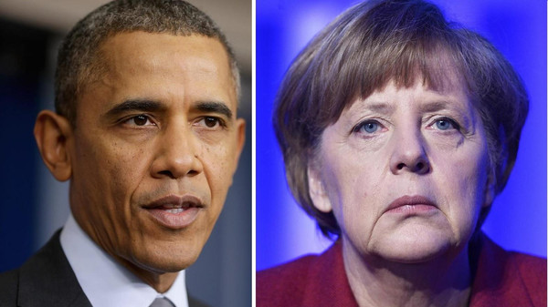Obama and Merkel also discussed the violence in Ukraine and talks with Iran about its nuclear program.