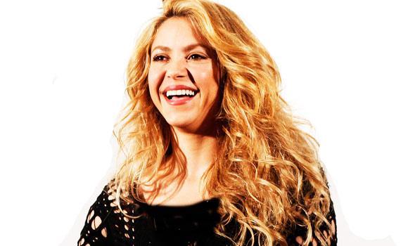 "Shakira poses during the presentation of her new album, ""Shakira,"" in Barcelona, Spain."