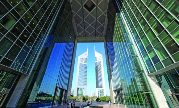 The Dubai International Financial Centre.