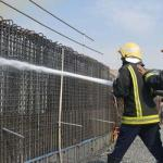 Minor fire at Haram expansion site