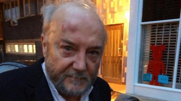 The attack, the spokesman said, appears to have been connected with Galloway's recent comments on Israel.