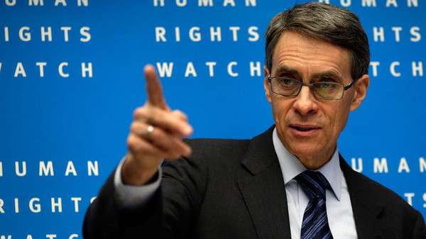Head of HRW Middle East barred from entering the country ahead of the release of the Rabaa report on a mass killing of protesters.