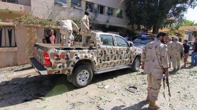 File photo shows Libyan security forces in the eastern city of Benghazi.