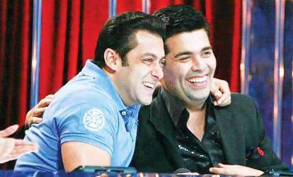 Bollywood sensation Salman Khan with director Karan Johar.