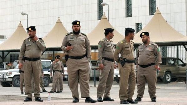 Pictured: Saudi police. The beheading in the southwestern city of Najran raised to 23 the number of executions so far this year in the Gulf state.