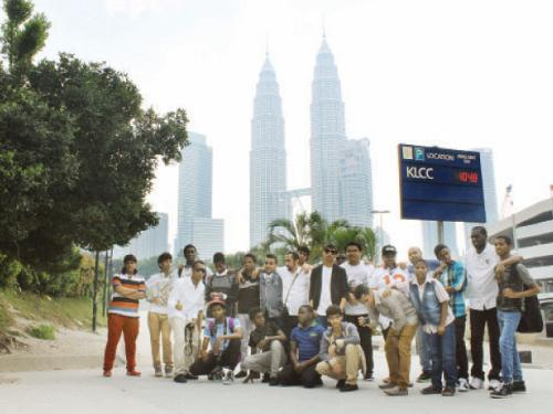 The orphans during their visit to Kuala Lumpur.