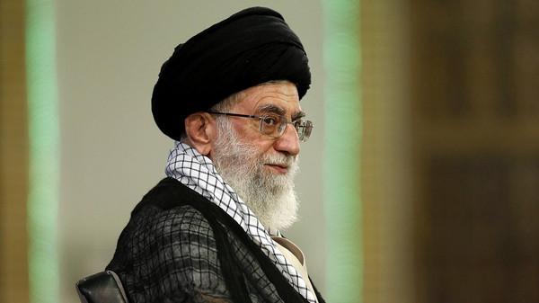Ayatollah Ali Khamenei looks on during a meeting in Tehran on Sept. 7, 2014.