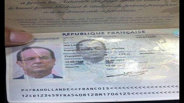 The images, which flooded social media platforms, revealed personal details of the president, including his height as well as details of the visa Hollande was granted to enter Iraq on Sept. 12.