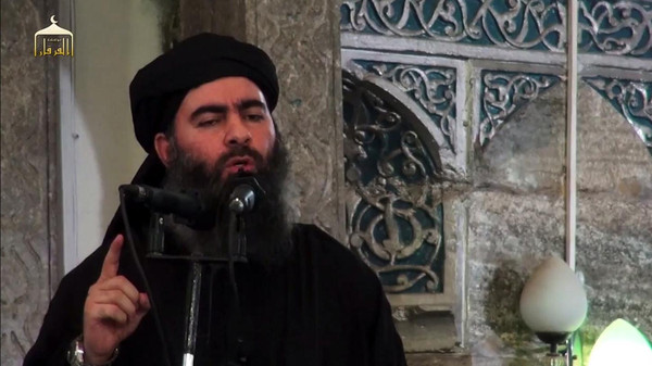 Islamic State of Iraq and Syria (ISIS) leader Abu Bakr al-Baghdadi.