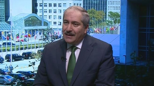 Nasser Judeh, Jordan's Minister of Foreign Affairs speaking at Al Arabiya's Diplomatic Avenue in New York.