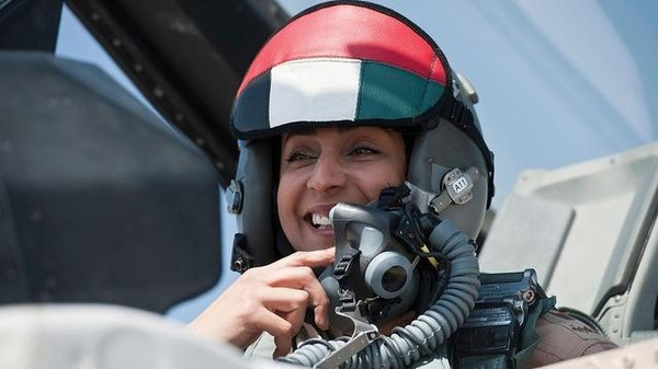 Major Mariam Al Mansouri, the UAE's first female fighter pilot.