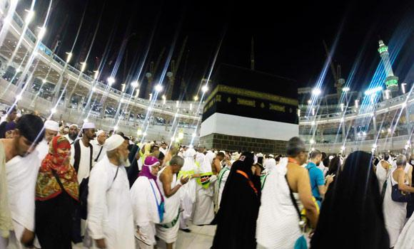 Muslim pilgrims circumambulate around the holy Kaaba during the ritual pilgrimages of Haj and Umrah at the Grand Mosque, during the annual haj pilgrimage in Makkah, in this Sept. 26, 2014 photo.