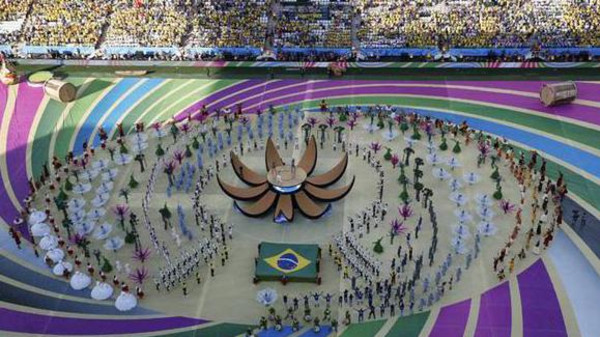 The 2014 World Cup's opening ceremony.