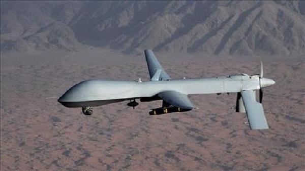 A U.S. drone killed four suspected al Qaeda militants in central Yemen on Monday.