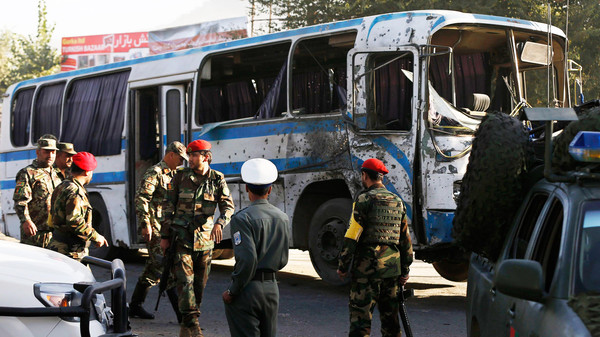 Afghan National Army soldiers (ANA) arrive at the site of a suicide attack in Kabul October 1, 2014