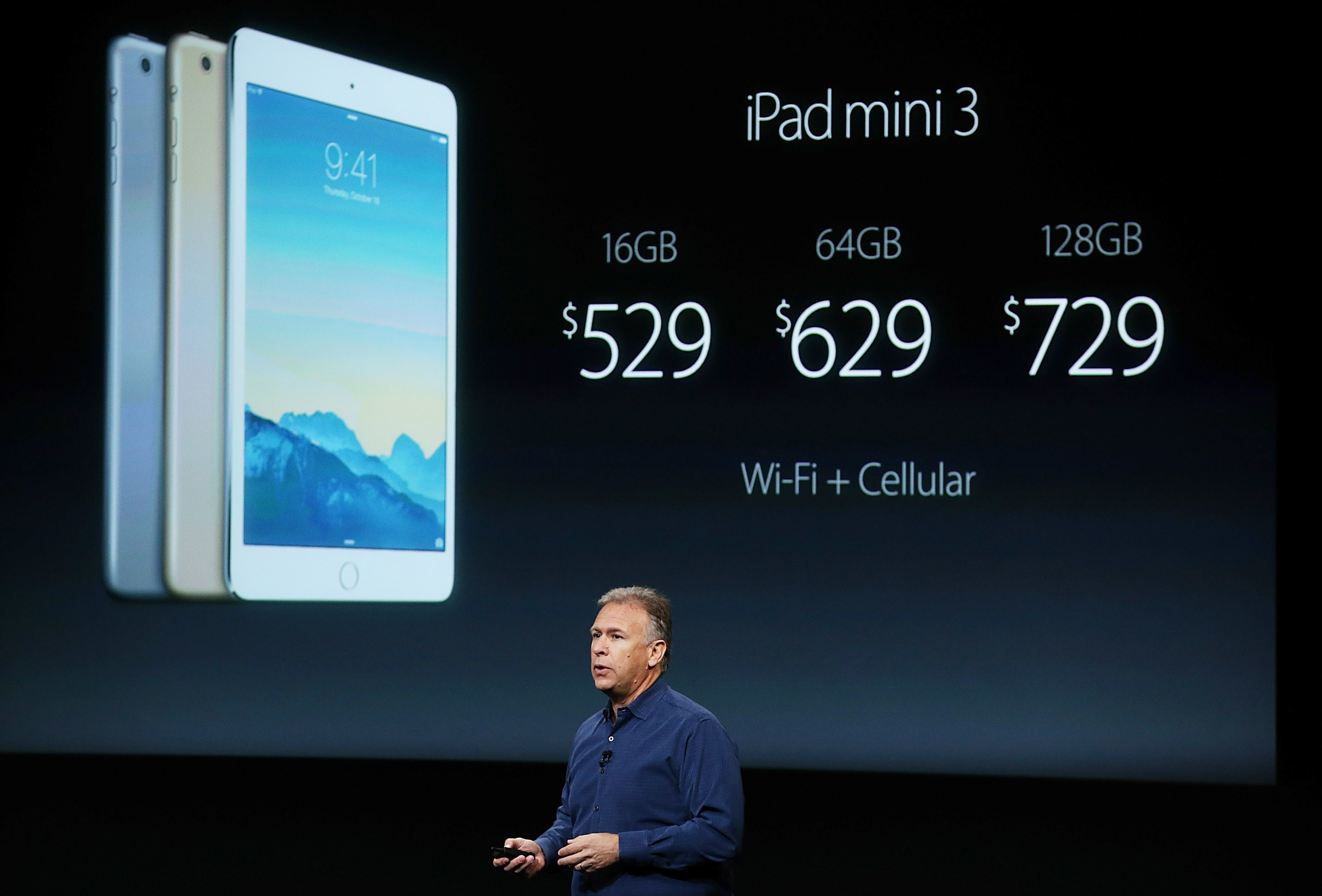 Apple's Senior Vice President of Software Engineering Craig Federighi speaks during an event introducing new iPads at Apple's headquarters October 16, 2014 in Cupertino, California.