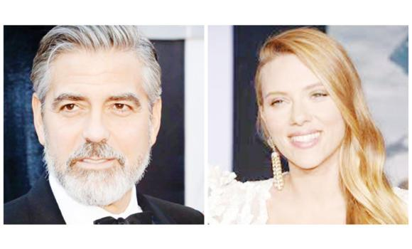 George Clooney and Scarlet Johansson.