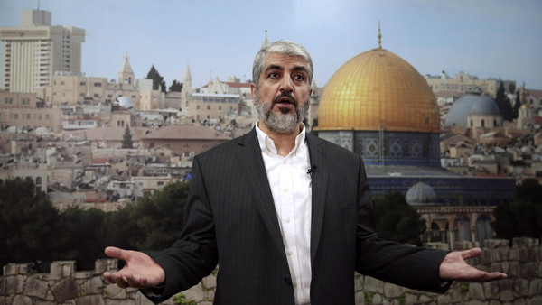 Hamas leader Khaled Meshaal called on Muslims to defend the al-Aqsa mosque compound in Jerusalem, saying Israel was trying to seize the site.
