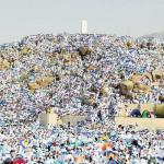 Standing in prayer valid anywhere in Arafat
