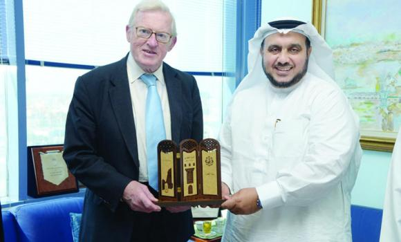 Lord Thomas King of Bridgwater with Mohammed Mazen Batterjee, vice president of JCCI