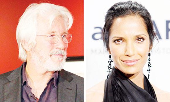 Richard Gere and Padma Lakshmi.