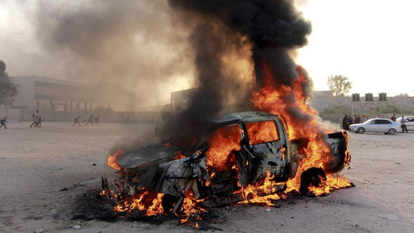 The attack targeted residents of the central Benghazi area of Boudhima, who had set-up a roadblock at the entrance to their neighborhood.
